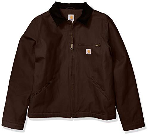 Carhartt Men's Duck Detroit Jacket (Regular and Big & Tall Sizes), Dark Brown, 2X-Large