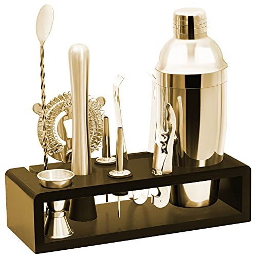 pentaQ Bar Set Bartender Kit With Stand Stainless Steel Drink Mixer Set For Beginners Perfect Home...