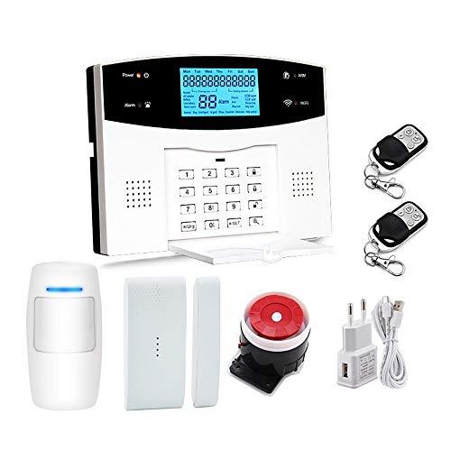ReedG Türfenstersensor Home Security System Kit Fernbedienung Intelligente LED-Anzeige Voice Prompt Haus Büro Business...