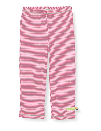 loud + proud Mädchen Light Striped Pant Organic Cotton Hose, Rosa (Azalea Aza), (Herstellergröße: 62/68)