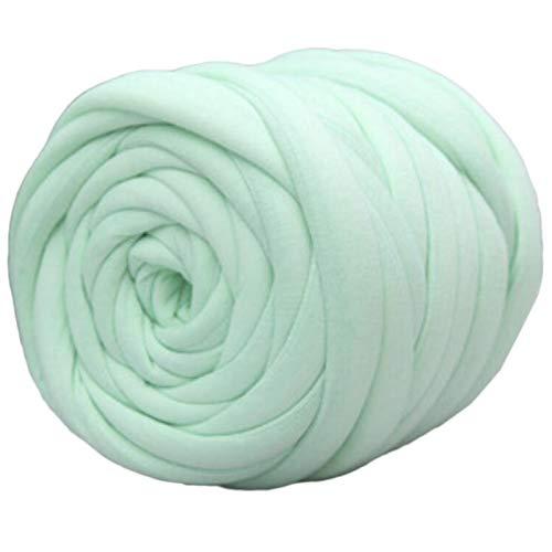 Hilo Gigante 500 g de relleno de núcleo hilado de algodón hilado de algodón grueso línea de tira de hielo línea de tira de hielo Manta tejida a mano Lana Para Tejer Gruesa ( Color : Mint green )