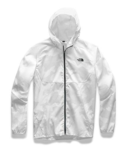 The North Face Men's Essential Jacket, TNF White Waxed Camo Print, L