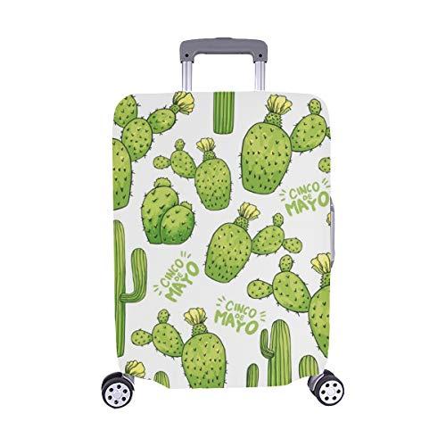 (Solo Cubrir) Cubierta Protectora para de Maleta con Maletas Cactus Verde para Viaje, Equipaje, Protector de Maleta, Cubierta Protectora para, 28.5 x 20.5 Pulgadas
