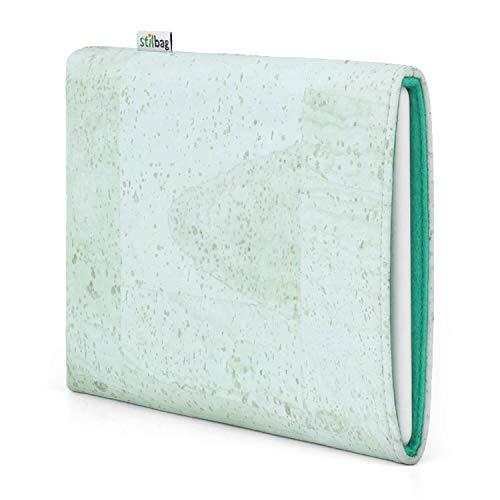 Stilbag eReader Custodia VIGO per Bookeen Cybook Muse Frontlight HD | eBook Reader Borsa - Made in Germany | sughero alla menta, feltro di lana verde ghiaccio