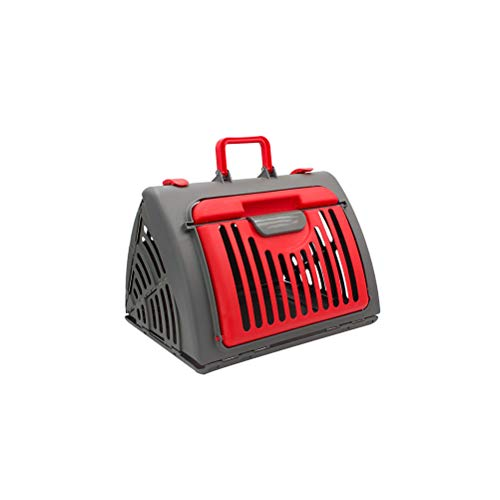 YINLING Pet Bag, Foldable Outing Carrying Bag for Cats and Dogs, Cage Space Capsule, Flight Case Backpack, Pet Bag,Red