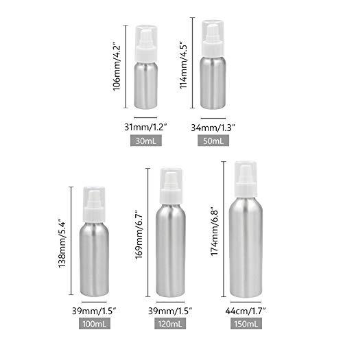YJ-foryou 30-150ML Aluminium leeren Sprühflasche Mini Fensterreinigung Gießkannen Blume Wasser Sprayer Flasche Haushaltsreiniger Sprühflasche (Color : 120ml)