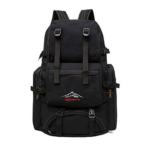 Yuan Wandeltas, 60 l, grote tas, voor camping, reizen, zeildoek, bagage, klimmen
