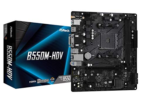 ASRock B550M-HDV Supports 3rd Gen AMD AM4...