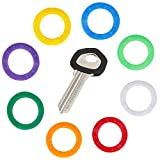 Uniclife 36PCS Tasto Caps Covers Tag, plastica Key Identifier Coding Rings in 9 Colori