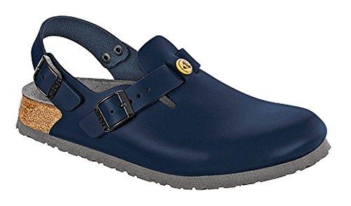 BIRKENSTOCK 61398-37-schmales Schuh Tokio Antistatik/Naturleder BLAU Gr. 37 - schmales Fußbett, Balu, Größe
