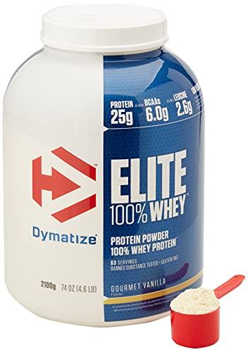 Dymatize Elite Whey Buongustaia Vaniglia 2,1Kg - Le Proteine di Siero del Latte Perfette in Ogni Momento - 2100 g