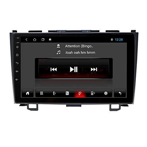 Android 10 Autoradio Navigazione GPS Adatto per Honda CRV 2007 2008 2009 2010 2011 Bluetooth 9 Pollici Touch Screen WiFi USB GPS Controllo del volante Mirrorlink WiFi 4G FM DAB +