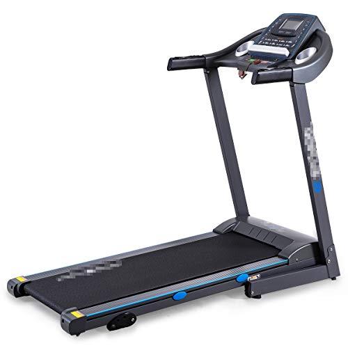 Goplus 2.25HP Folding Treadmill Electric Portable Motorized Power Running Fitness Machine,Gray,Running Belt