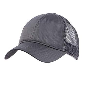 Zylioo XXL Oversize Mesh Trucker Baseball Cap,Adjustable Plain Breathable Dad Cap,Quick Dry Running hat for Big Heads Gray