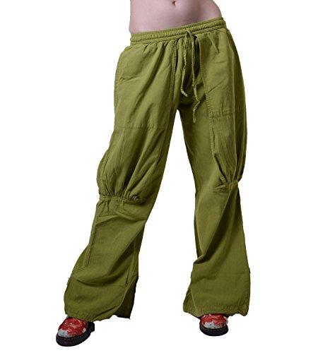 Po-Betonte Baumwollhose Alternative Mode für Sie, Größe/Size:S/M;Farbe:Lemongrün/Lemongreen