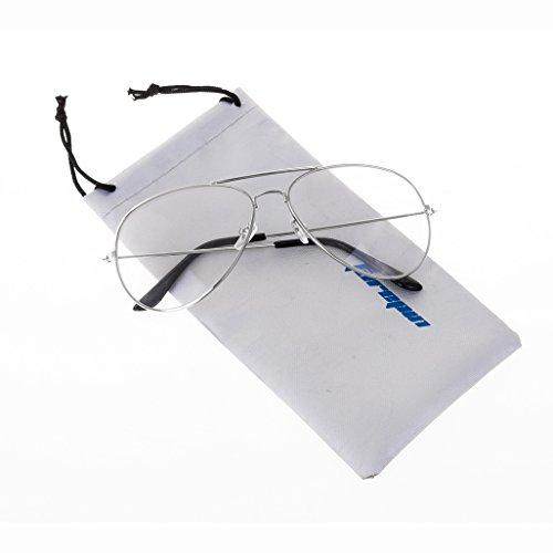 forepin reg; Jahrgang Pilotflieger Brille Pilot Metallrahmen Sonnenbrille Klare Linse Gläser