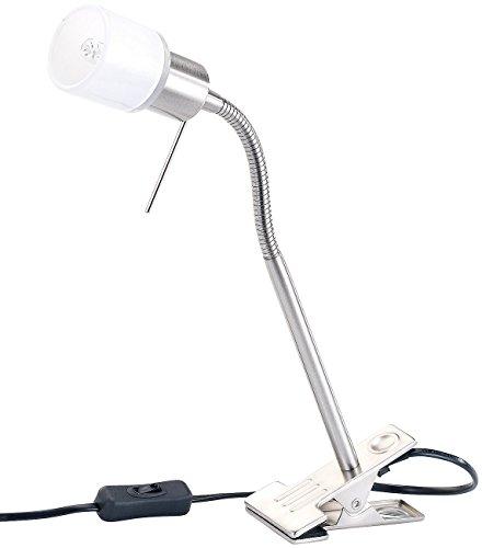 Lunartec Klemmlampe Schwanenhals: Klemmleuchte mit Schwanenhals, G9 für max. 50 W (LED Klemmleuchten)
