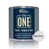The One Paint Matte 250ml - Multi Surface Paint - No Undercoat or Primers required (Light Grey)