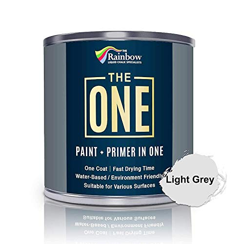 The One Paint Matte 1 Litre - Multi Surface Paint - No Undercoat or Primers Required (Light Grey)