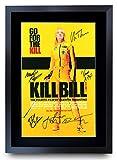 HWC Trading Kill Bill Vol 1 Regalos Die Carteles Impresos Autógrafos Imagen para El Fan Film De Recordado - A3 Enmarcada