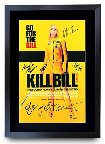 HWC Trading Kill Bill Vol. 1 The Cast Gifts Poster Stampato autografo per i Fan del Film Memorabilia – A3 incorniciato