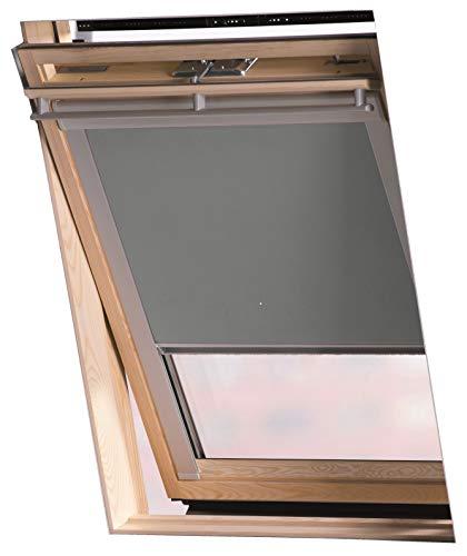 Jaloutec Dachfenster Rollos, Farbe grau, Verdunkelung in 10 Grössen, für Velux - Dachfenster Serie GGL/GGU und GPL (GGL FK06)