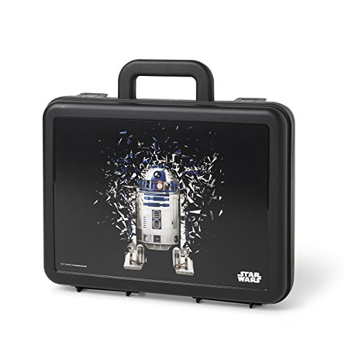 Star Wars Maleta, R2D2, estuche de almacenamiento portátil, maletín, 4,2L, Negro,1 pieza