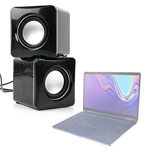 "DURAGADGET Altavoces Compactos para Portátil Samsung Notebook 9 Pen 13"" - Tamaño Mini - Conexión Mini Jack + USB"