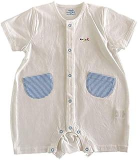 ベビー服 天竺半袖プレオール ロンパース 日本製 新生児 50-70cm (0~6ヶ月) 高品質 T4438