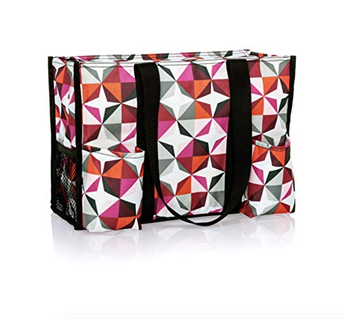 Thirty One Zip Top Organizing Utility Tote (4451) in Origami Pop