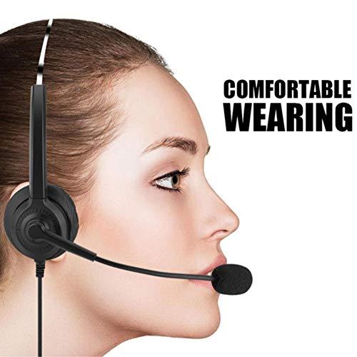 YUHUANG USB-Headset Leichte Computer-Headset mit Mikrofon Online-Steuerung für Call-Center-Skype PC VoIP-Telefon