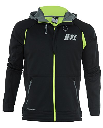 Nike [716450-010] Hyper Elite City Hoody Sweater Apparel Apparel NIKEBLACK Grey Lime Green