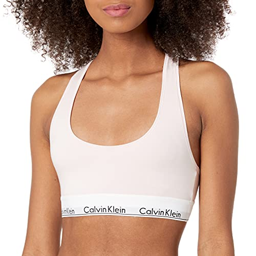 Calvin Klein Women's Regular Modern Cotton Bralette, Nymph'S Thigh, Large
