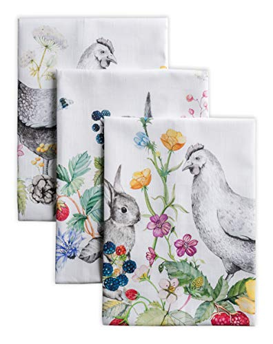 Maison d' Hermine Printemps 100% Baumwolle Set von 3 Multi-Purpose Küchenhandtuch   Bar Handtücher   Frühling/Sommer (50cm X 70cm)