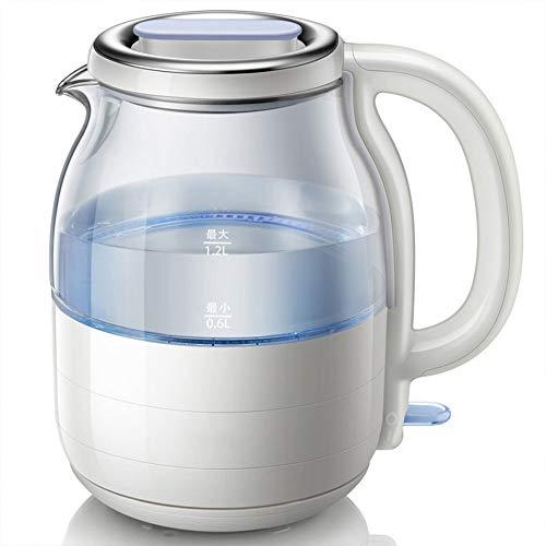 VKFX Hervidor de Agua Eléctrico, Hervidor de Control de Temperatura, Cierre Automático, Iluminación Led, Libre de BPA y Sistema de Protección contra la Ebullición en Seco (1.2L/1200