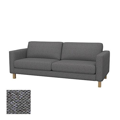 Soferia Ersatzbezug fur IKEA KARLSTAD 3er-Sofa, Stoff Nordic Grey, Grau
