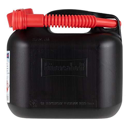 alca® Kanister 5l für Diesel Benzin Kraftstoff-Vorrat aus dickem Kunststoff mit Kindersicherung