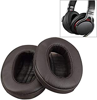 KANEED Replacement Cushion Ear Pads 1 Pair Sponge Headphone Protective Case for Sony MDR-1A (Black) (Color : Brown)