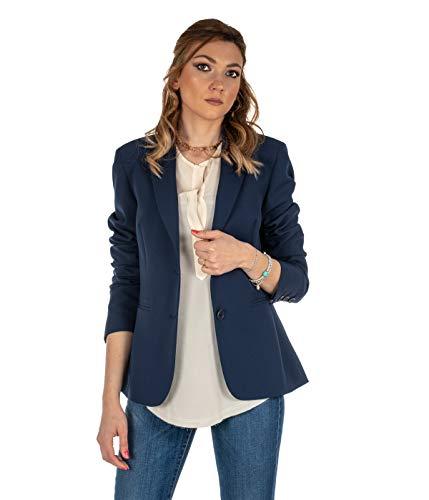 HANITA damesjack blauw blazer lang H.J534.1332 Made in Italy