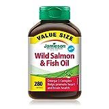 Jamieson Wild Salmon & Fish Oils Omega-3 Complex, 280 softgels Bonus Size