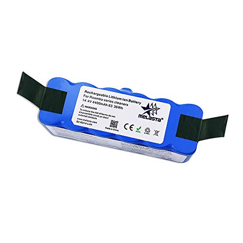 melasta 4400mAh Lithium ion Replacement Battery for iRobot Roomba 600 700 800 Series 690 675 655 650 860 870 880 890 660 671 677 680 685 695 760 770 780 790 801 805 850 877 890 891 895