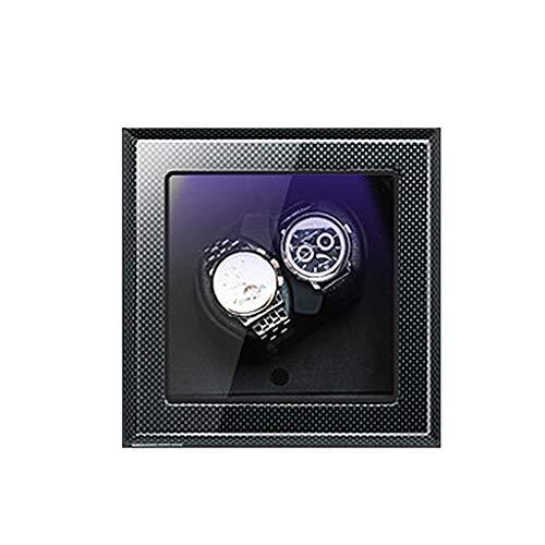 ZFF Doble Reloj Automático De Doble Winder Relojes Caso De Almacenamiento De Rotación De La Pantalla Caja For Relojes Mecánicos Automáticos (Size : A-04)