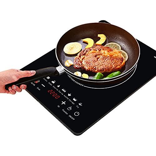 KLMM Cocina de inducción eléctrica multifunción, Caldera de Agua y Leche, Estufa, Quemador de café y té, Olla de Cocina (Color : Black, Size : 220v)