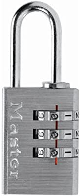 Master Lock Padlock, Set Your Own Combination Luggage Lock, 13/16 in. Wide, 620D