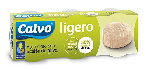Calvo Atún Claro, Aceite de Oliva - 3 Latas de 60 gr