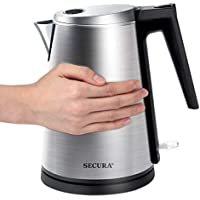 Secura 1.6Qt Double Wall Stainless Steel Electric Kettle Water Heater
