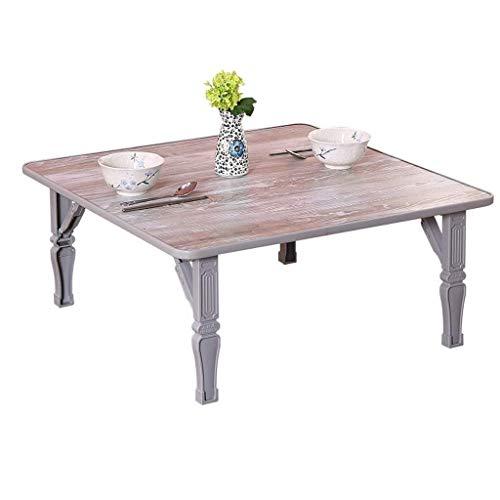Klaptafel, tuintafel, eettafel, eettafel, eenvoudige tatami-tafel, studiafel, lage tafel, bed, luier, tafel tafel (afmetingen: 80 x 80 x 30 cm) 70 * 70 * 30cm