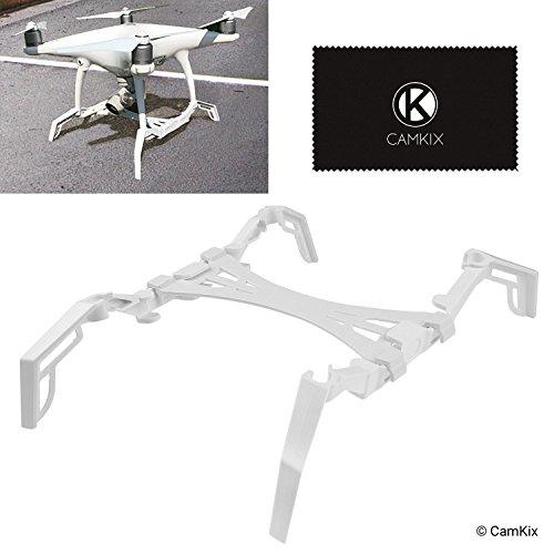 CamKix® Landeframe-uitbreiding/stabilisatoren en gimbal-spatbord voor DJI Phantom 4/Pro/Pro Plus/Advanced – geeft je drone extra stabiliteit, elimineert rukken, maakt zachter