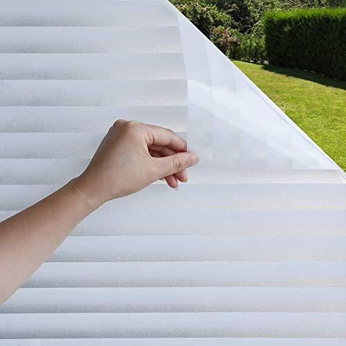 kalulu Sichtschutzfolie Fenster,Fensterfolie Selbsthaftend Blickdicht,Milchglasfolie,Fensterfolie Sichtschutz für Duschkabine Bad Küche Badfenster Büro (90 * 200cm)