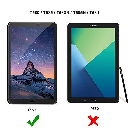 Gerutek Samsung Galaxy Tab A T580/T580N/T585N (10,1 Zoll, 2016) Panzerglasfolie, [2 Stück] [Kristallklar] [Kratzfest] [Blasenfrei] 2.5D, 9H Hartglas Panzerglas Schutzfolie für SM-T580/SM-T580N/SM-T585